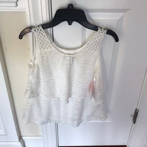 Girls lace top new!
